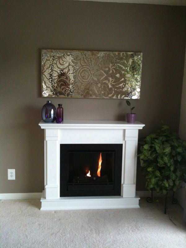 Champagne mirrored damask mosaic wall panel for Sale in ...