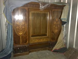 Antique vintage beautiful ornate Hutch Display China cabinet for Sale in Chicago, IL
