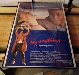 Say Anything Movie Poster Framed for Sale in Tinton Falls, NJ