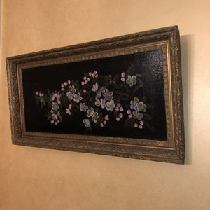 Antique Oil Cherry Blossom Painting for Sale in Hartford, CT