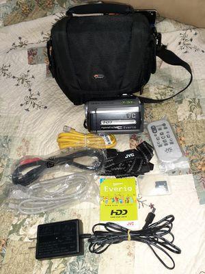 JVC Everio GZ-MG130U Camcorder Hybrid 34X Optical Zoom, HDD video camera w/ Case for Sale in Live Oak, TX