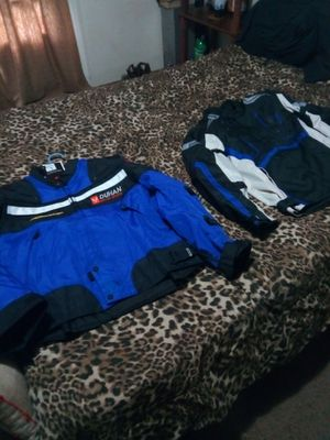 Two large motorcycle jackets with padding for Sale in Acworth, GA