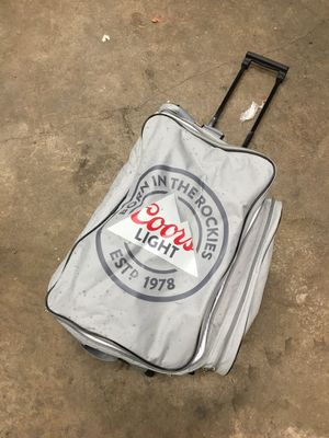 Coors Light Rolling cooler duffle bag for Sale in Marshfield, MA