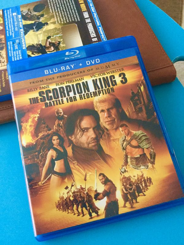 The Scorpion King 3 Movie 🍿 🎥 BLUE - RAY DVD 2 disc 💿 📀 Battle of redemption / High Definition Picture & Sound