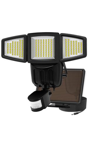 New arrival Ultra Bright Solar Lights Motion Sensor, 182 LED 1000 Lumens Outdoor Weatherproof Triple Dual Head for Sale in Alta Loma, CA