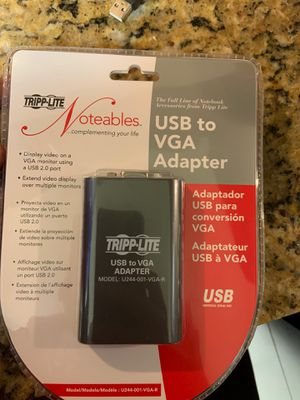 USB 2.0 to VGA Dual-Monitor Adapter (U244-001-VGA-R) for Sale in Houston, TX