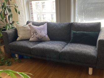 IKEA Norsborg Sofa with Black Custom Slip Cover for Sale in Seattle,  WA