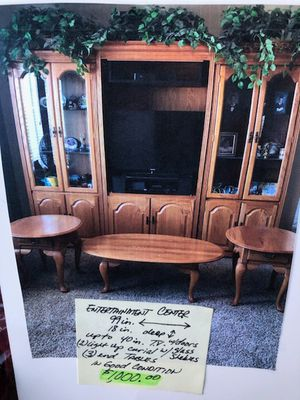 Entertainment cabinet, coffee and end tables for Sale in San Jose, CA