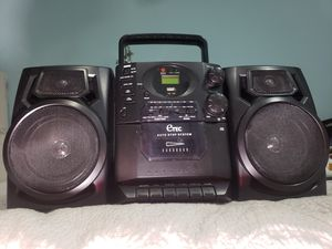 Cd mp3 radio am fm stereo cassette boombox music system recorder audio player etec loud sub speakers for Sale in Hialeah, FL
