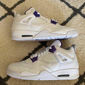 Jordan 4 Retro Metallic Purple size 10.5 for Sale in Montgomery Village, MD
