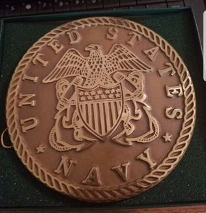 US Navy Brass Trivet Virginia Metalcrafters 1995 for Sale in Fallbrook, CA