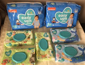 Pampers easy ups and wipes for Sale in Mesa, AZ