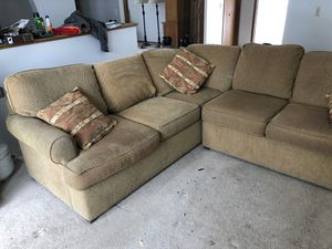 Two piece sectional couch for Sale in Littleton, CO