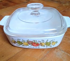 """Corningware Casserole Dish """"Spice of Life"""" Pattern with Lid for Sale in Whittier, CA"""
