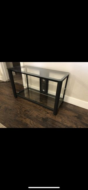 3 Tier Glass TV Stand (Available for Best Offer) for Sale in Tacoma, WA