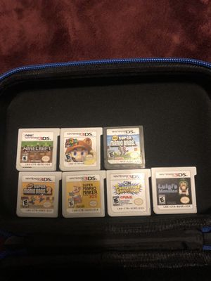 3ds games and case for Sale in Auburn, WA