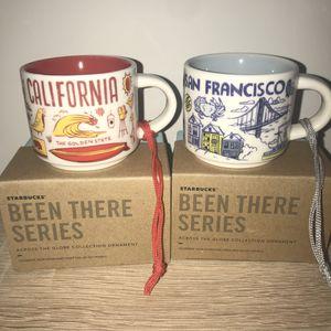 Starbucks Mug Ornaments San Francisco and California for Sale in Sterling, VA