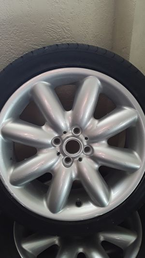 Set Mini Cooper wheels e tires New Tires 205-45-Ri4 for Sale in Orlando, FL