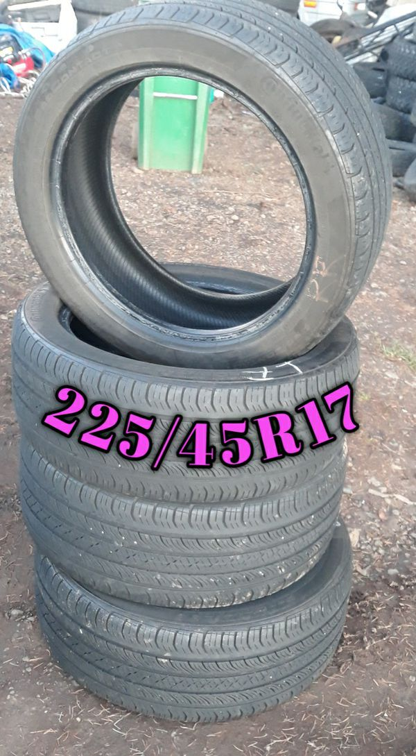 """Set of 17"""" Continental Low Profile Tires"""