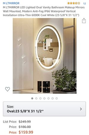 Oval Vanity Mirror for Sale in Rancho Cucamonga, CA