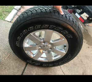 18in Jeep Wrangler rims with brand new tires. for Sale in Richardson, TX