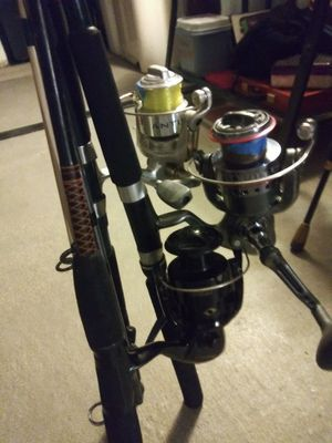 Shakespeare and hurricane fishing poles for Sale in Gulfport, FL