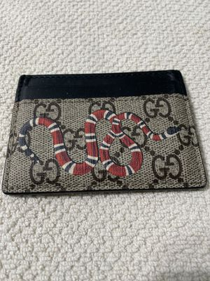 Gucci Wallet Kingsnake print GG Supreme card case for Sale in San Diego, CA
