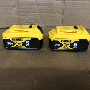 Dewalt 5.0 Battery 2 Pkg for Sale in San Jose, CA