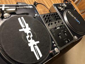 pair Stanton T60 turntables & Rane ttm 56 mixer dj equipment for Sale in Fremont, CA