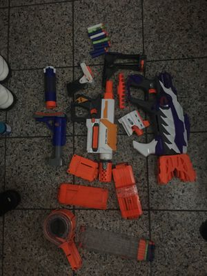Nerf guns and attachments for Sale in San Jose, CA