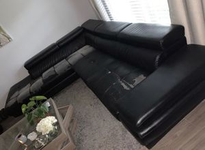 Large leather sectional for Sale in Roswell, GA