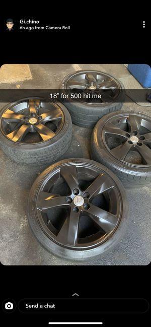 5x114.3 18 inch rims for Sale in Boston, MA
