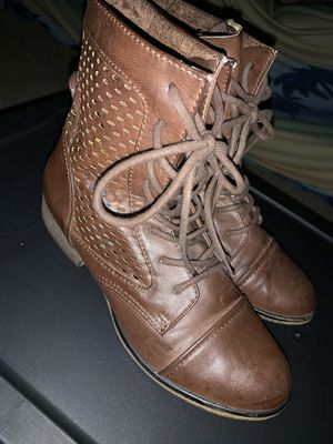 Woman's Brown Combat Boots for Sale in Wichita, KS