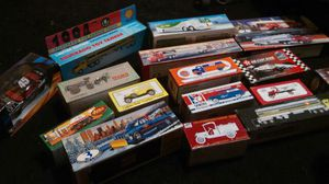 Early 90s to mid 90s shell , hess , hot wheels & more toy vintage collectable trucks for Sale in Camden, NJ