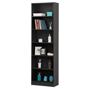 Fineboard Book Case with 6 Shelves Home Office Bookshelf Storage Cabinet, WHITE for Sale in Pennsauken Township, NJ