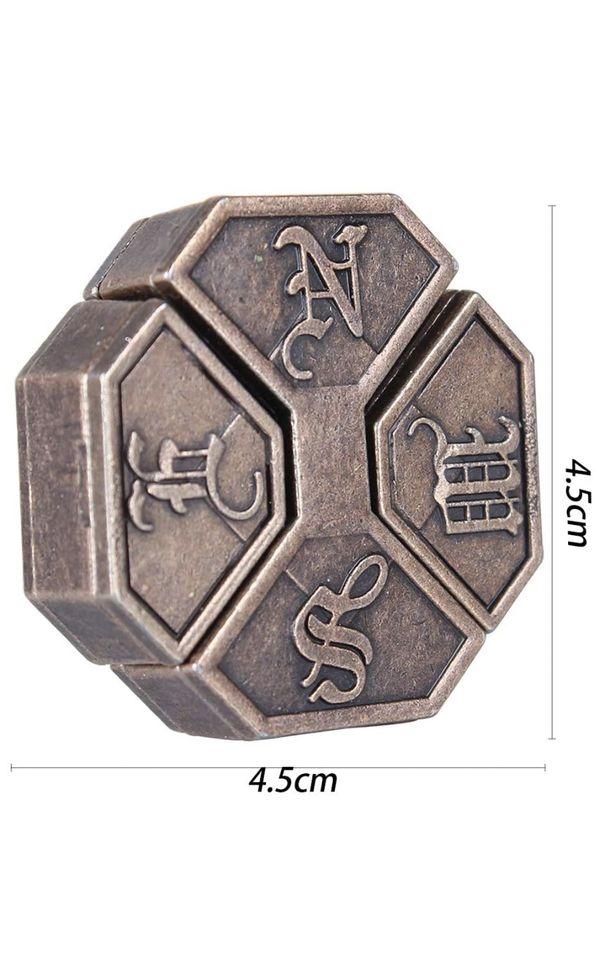 Brain Teaser Metal Puzzle 3D Unlock Interlocking Puzzle Adults Child Educational Toy,hanayama Puzzle Switch Games