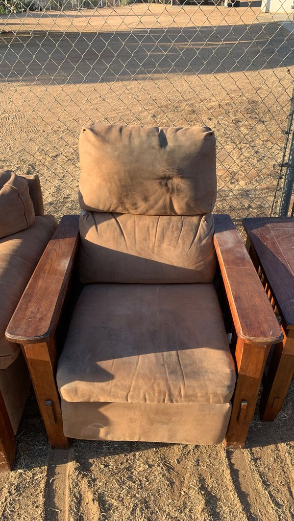FREE love seat and recliners with matching end table