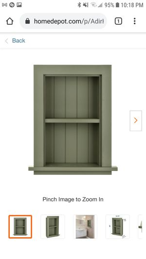 AdirHome Recessed Wall Mount Storage Cabinet in Green for Sale in Coal City, IL