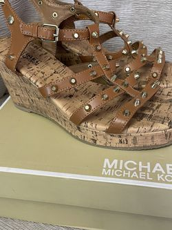 Brand New Michael Kors Wedges Size 5y (fits 7w) for Sale in Corona,  CA
