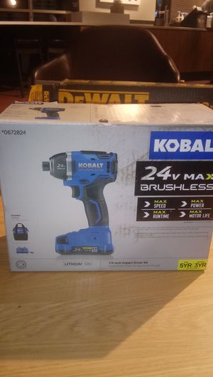 Kobalt 24 1/4inch impact driver kit for Sale in Seattle, WA
