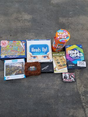 Box of games and puzzles for Sale in Fife, WA