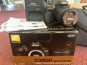 Nikon D3400 and accessories for Sale in Niederwald, TX