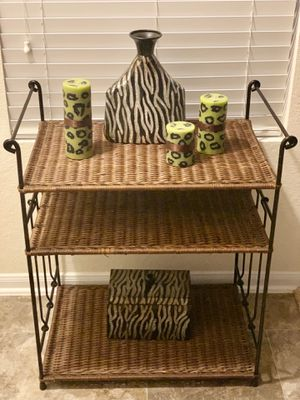 Wicker shelf / bookcase for Sale in Katy, TX