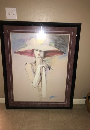 Elegant lady large picture in frame for Sale in Fresno, CA