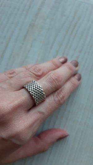 Tiffany mesh ring. 925 Sterling Silver. Authentic. With box and case. Size 6.5 for Sale in Mill Valley, CA