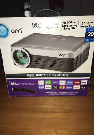 Brand New ONN 1080p portable projector with Roku streaming stick!!!! for Sale in Las Vegas, NV
