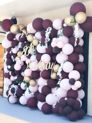 Balloon Wall with Flowers Party Decorations for Sale in Azusa, CA