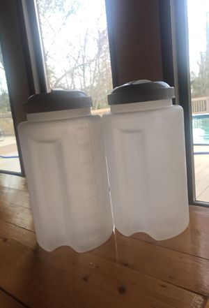 2 plastic one gallon storage containers. for Sale in Norfolk, VA