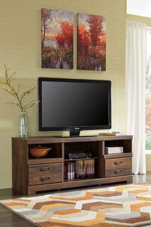 Tv Stand with Fireplace Insert Option, Brown for Sale in Santa Fe Springs, CA