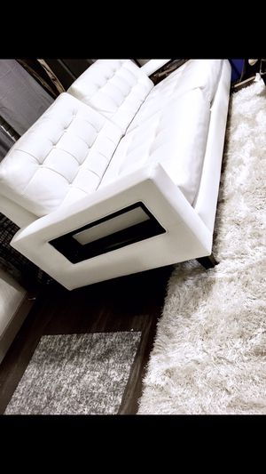 White leather couch-great condition! for Sale in Austin, TX